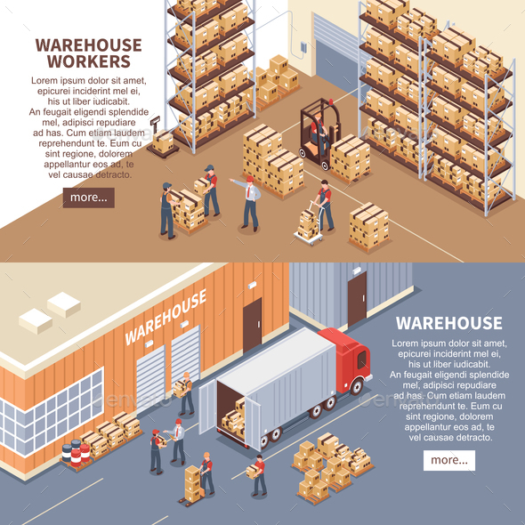 GraphicRiver Warehouse Banners Set 20673399