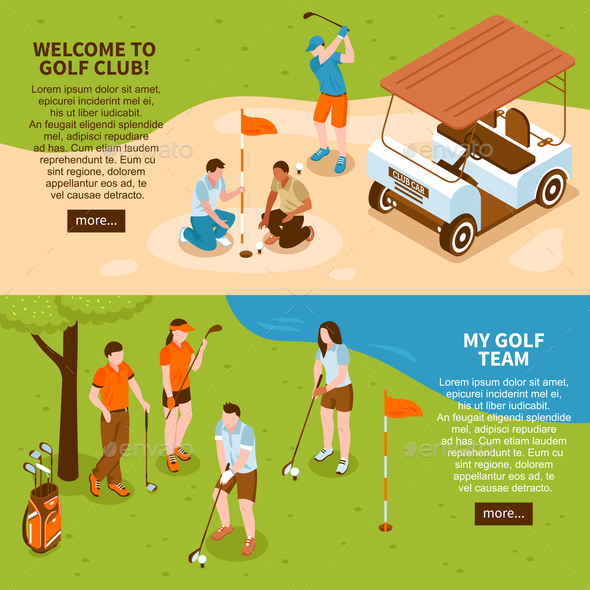 Golf Banners Set - Sports/Activity Conceptual