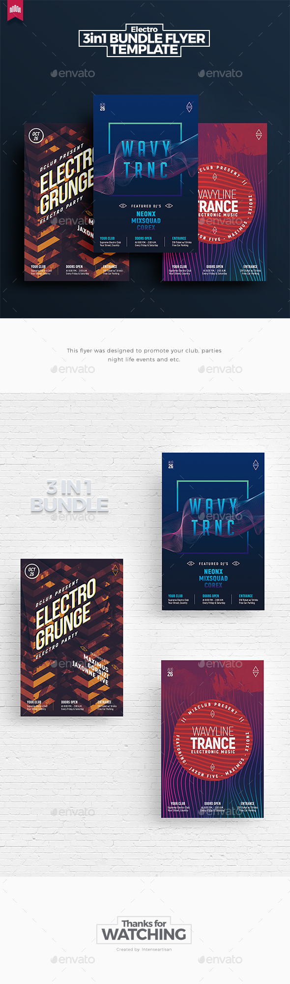 Electro Bundle 9 - Flyer Template - Clubs & Parties Events