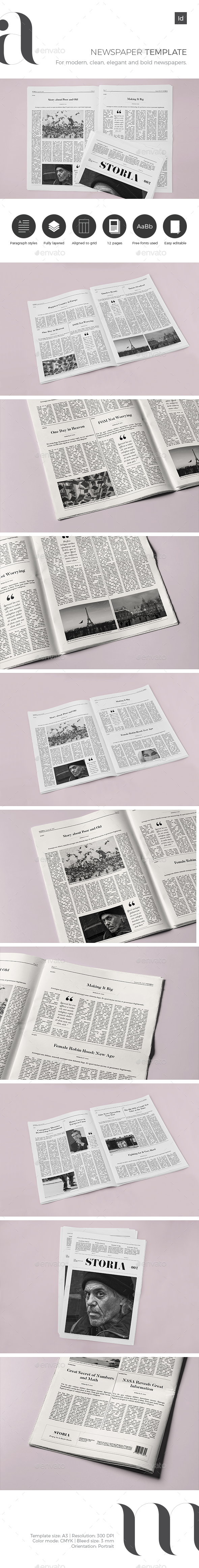 GraphicRiver Newspaper Template 20651480