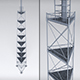 Scaffolding radio tower power - 3DOcean Item for Sale