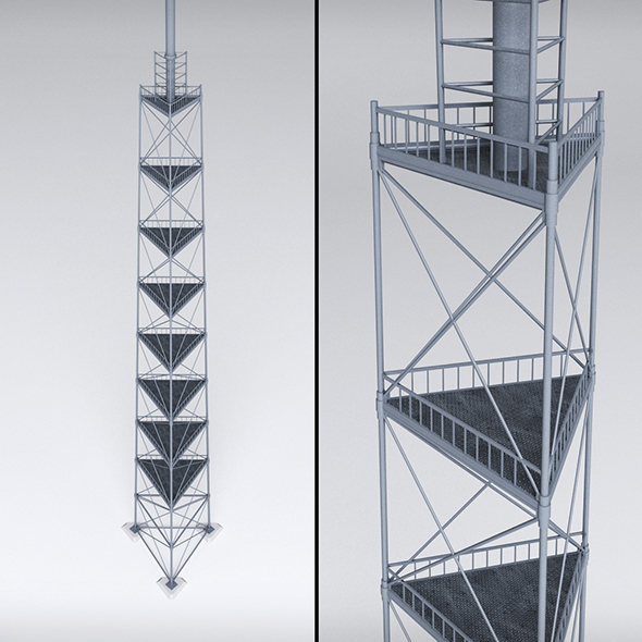 3DOcean Scaffolding radio tower power 20673488