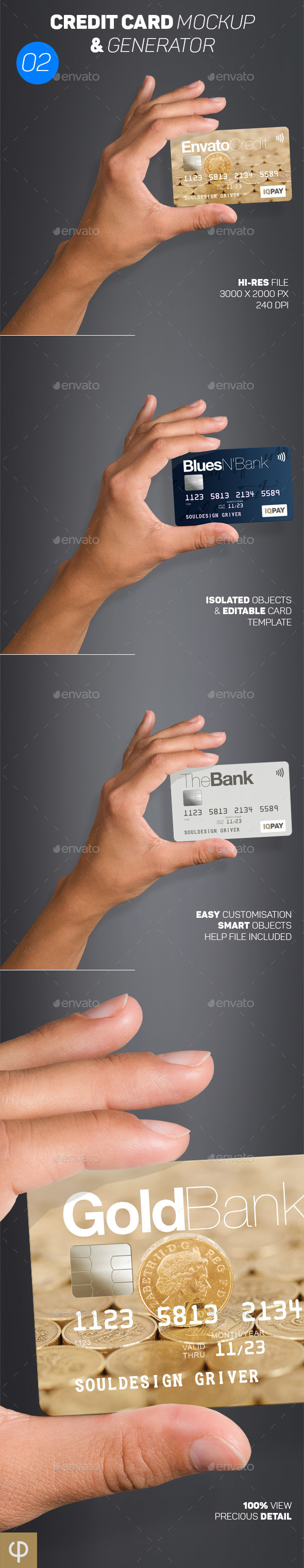 GraphicRiver Card Mockup & Generator 02 20673511