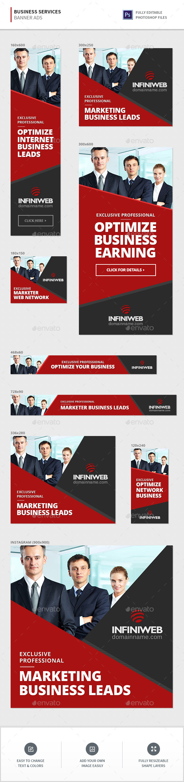 GraphicRiver Business Services Banners 20673571