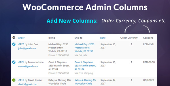 WooCommerce Admin Columns Add-On - CodeCanyon Item for Sale