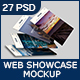 Web Showcase Mockup (27 Views) | 3D Views | Web and Mobile App Showcase