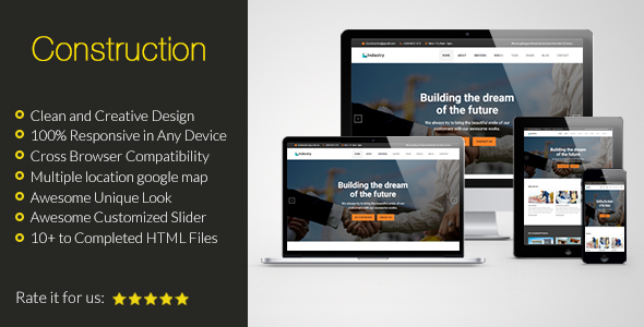 Construction HTML Responsive Template
