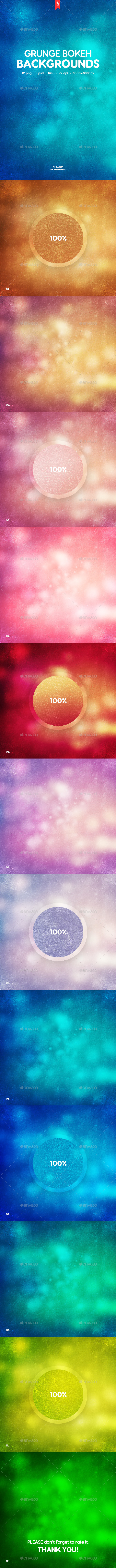Grunge Blurred Bokeh Backgrounds - Abstract Backgrounds