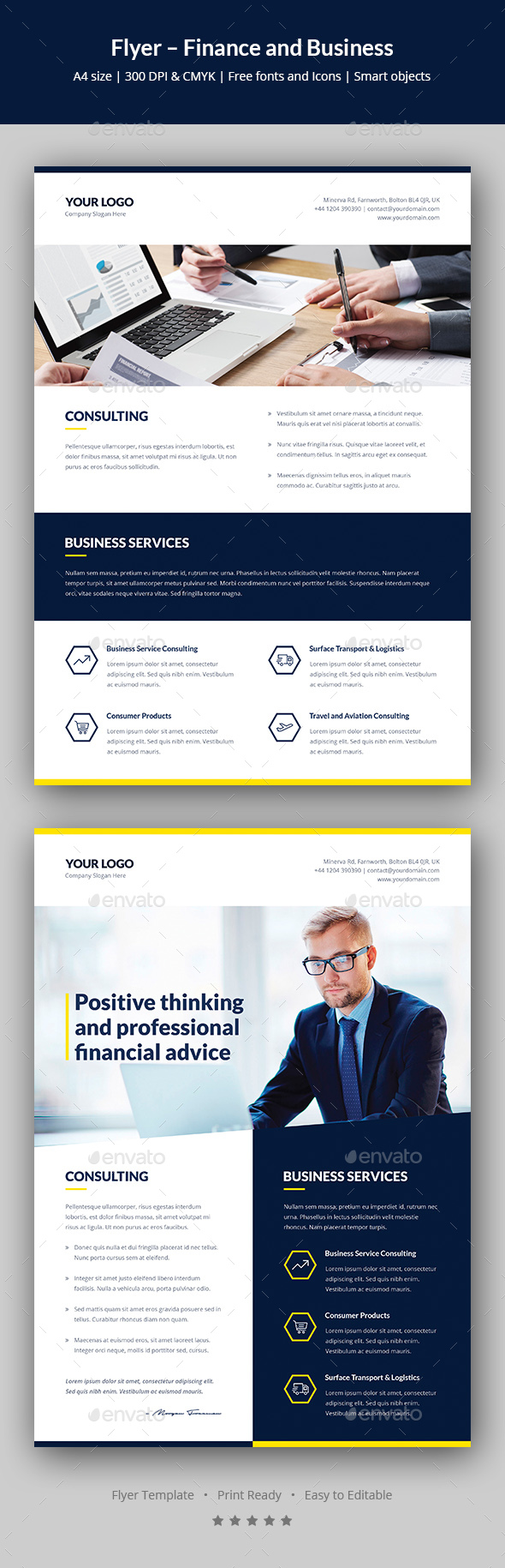 Flyer – Finance and Business Multipurpose - Corporate Flyers