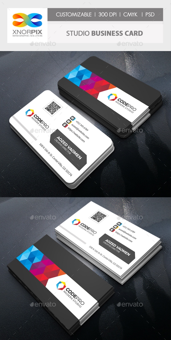 GraphicRiver Studio Business Card 20673731