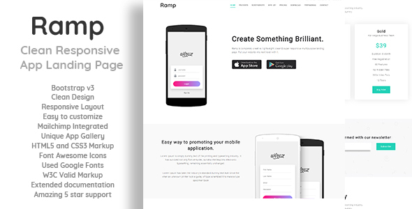 Ramp - Clean Responsive App Landing Page - Landing Pages Marketing
