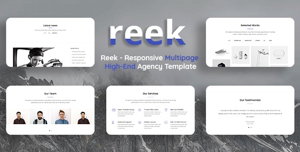 Reek - Responsive Multipage High-End Agency Template - Business Corporate