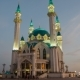 Kazan Kremlin. Kul Sharif Mosque. Sunset