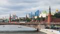 Moscow cityscape from Floating Bridge in Zaryadye