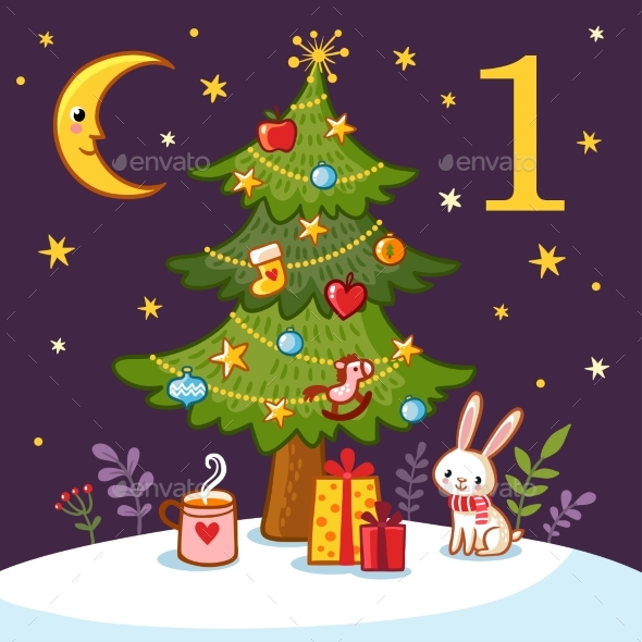 GraphicRiver Vector Christmas Advent Calendar 20674178