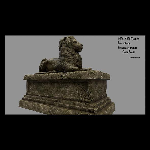 3DOcean Lion Statue 15 20674187