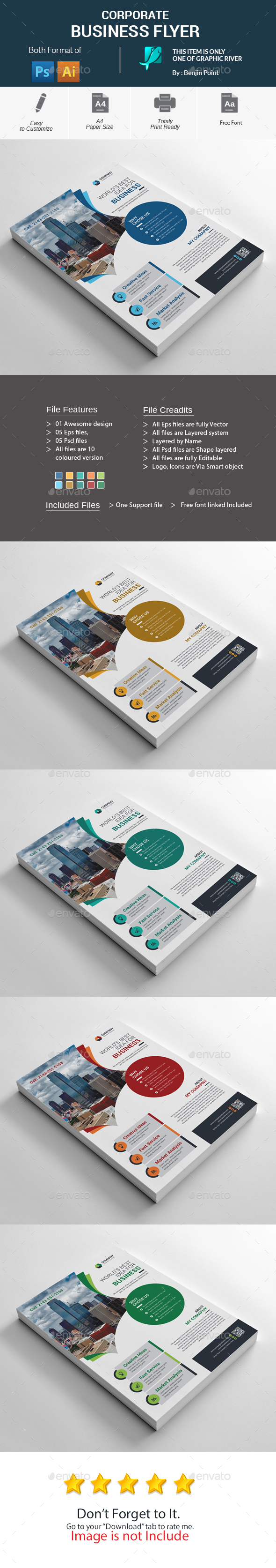 GraphicRiver Corporate Business Flyer 20674193