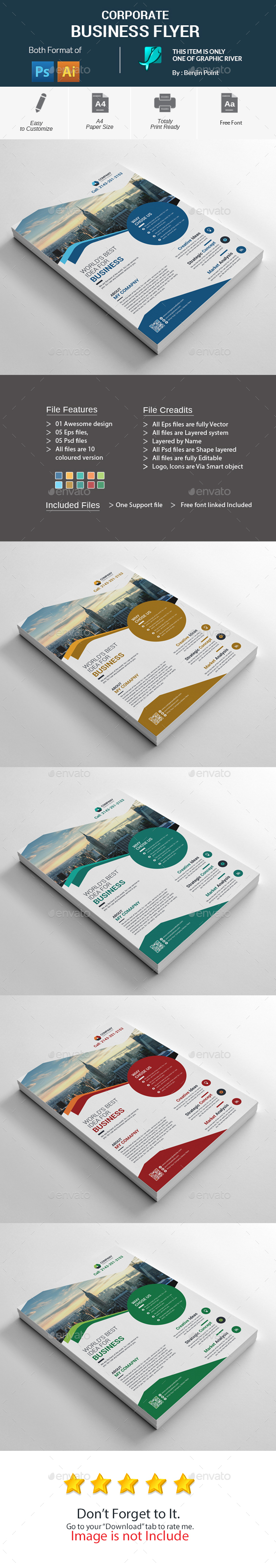 GraphicRiver Corporate Business Flyer 20674206