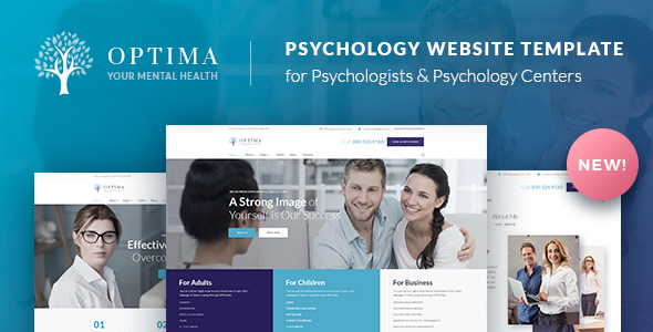 Psychologist & Psychology Center HTML Template - Optima - Health & Beauty Retail