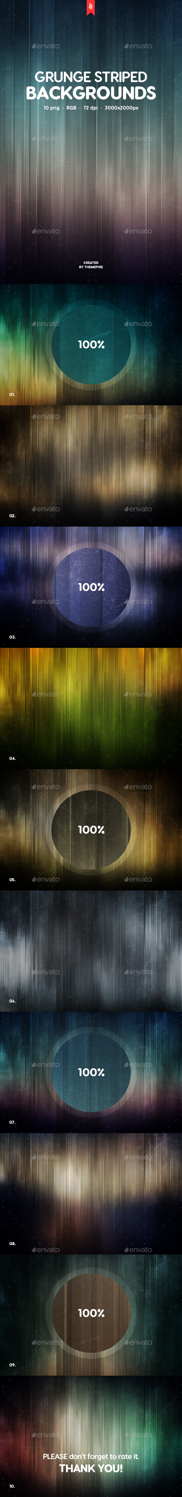 Grunge Striped Backgrounds - Abstract Backgrounds