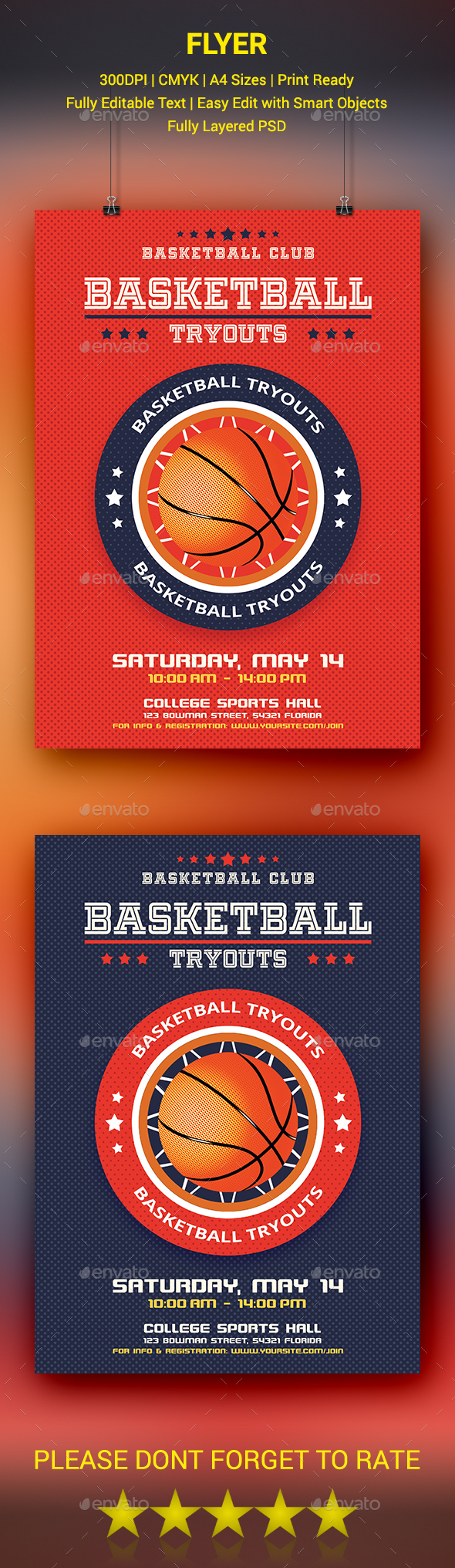 GraphicRiver Basketball Tryouts Flyer 20674246