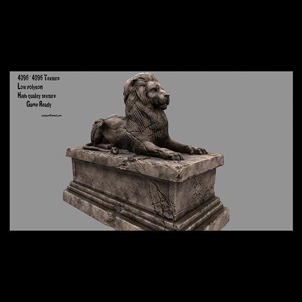 Lion Statue 16 - 3DOcean Item for Sale