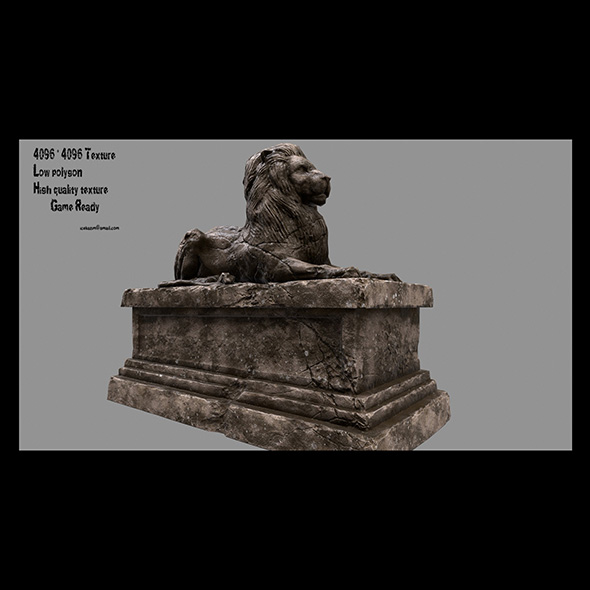 Lion Statue 17 - 3DOcean Item for Sale