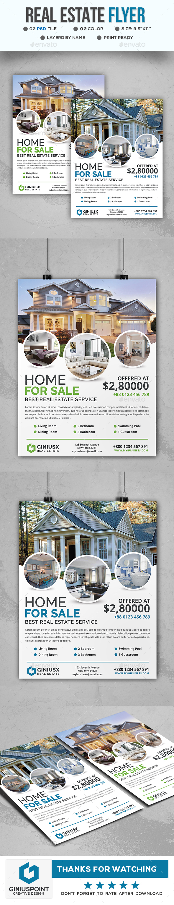 GraphicRiver Real Estate Flyer 20674816