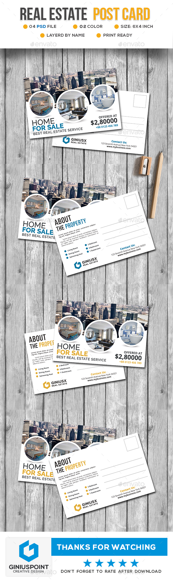 GraphicRiver Real Estate Post Card 20674823