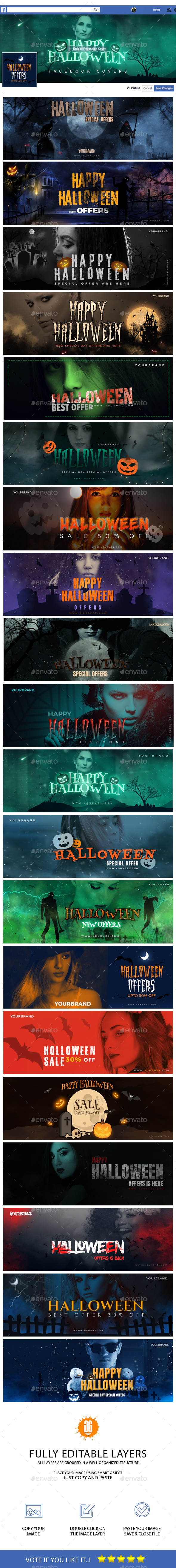 GraphicRiver 20 Halloween Facebook Timeline Cover 20674824