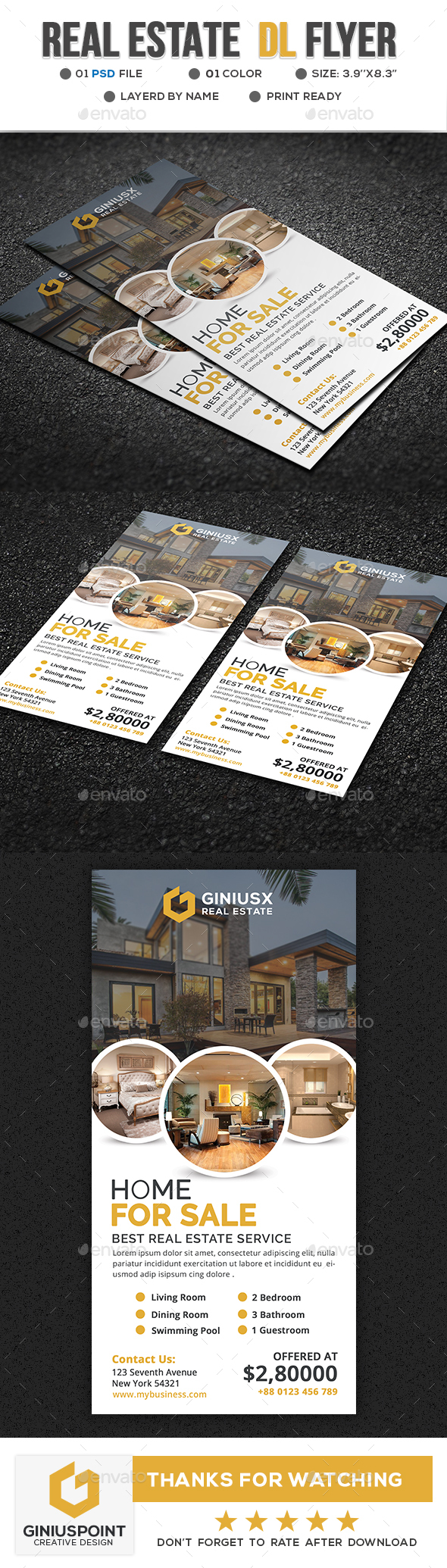 GraphicRiver Real Estate DL Flyer 20674825