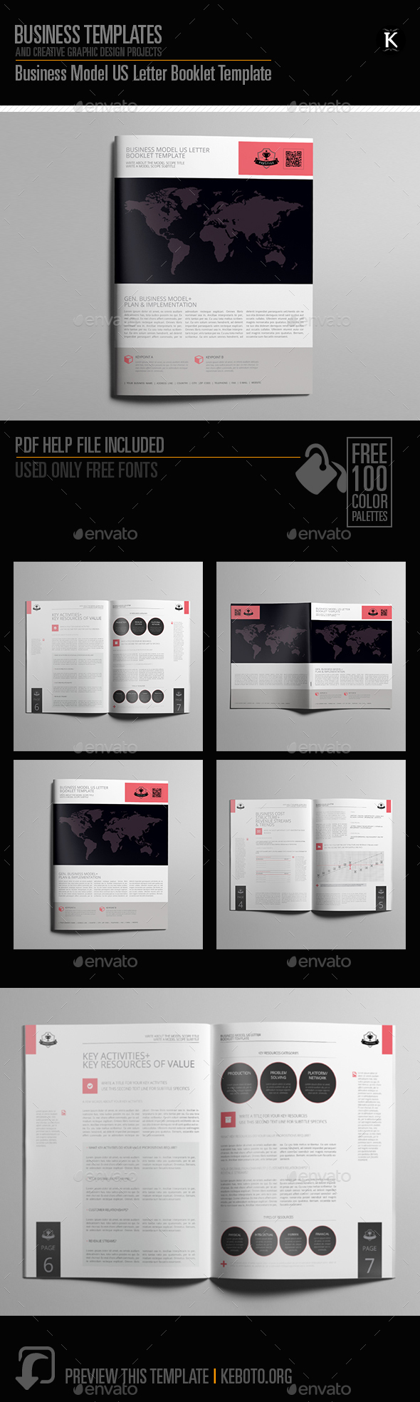 Business Model US Letter Booklet Template - Miscellaneous Print Templates