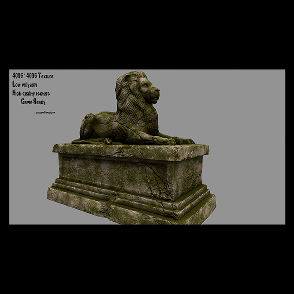 lion statue 19 - 3DOcean Item for Sale
