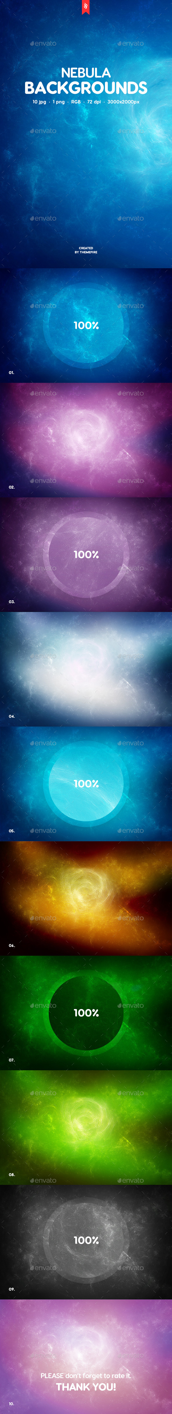 Nebula Backgrounds - Backgrounds Graphics