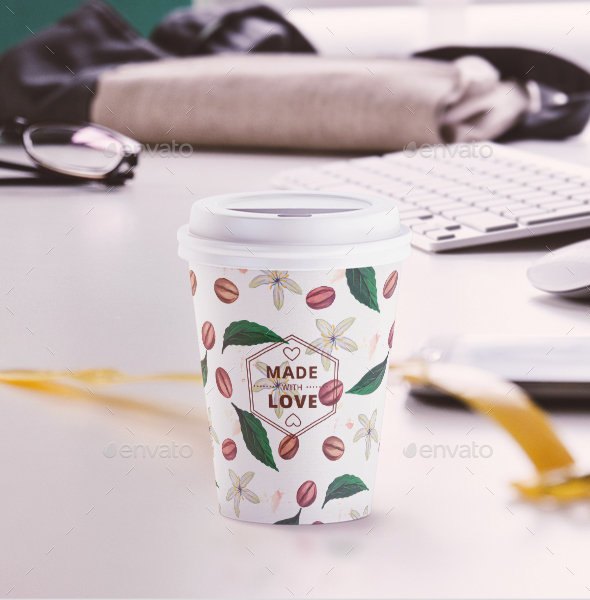 Small Coffee Cup Animated Mockup By Rebrandy