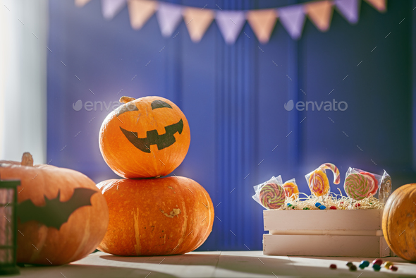 Pumpkins on the table - Stock Photo - Images