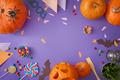 Pumpkins on the desk