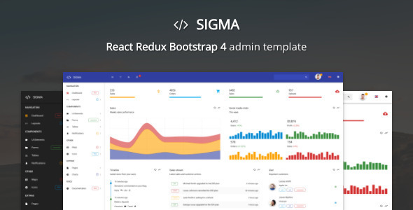 sigma react bootstrap 4 admin template by batchthemes. Black Bedroom Furniture Sets. Home Design Ideas