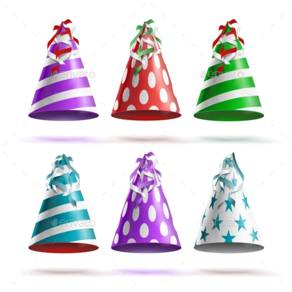 GraphicRiver Party Hat Set Vector 20675011