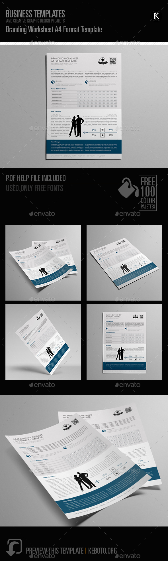 GraphicRiver Branding Worksheet A4 Format Template 20657647