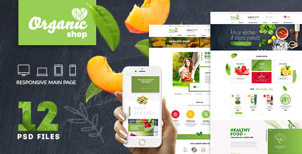 ThemeForest Organic Organic Food & Cosmetics PSD Template 20204933