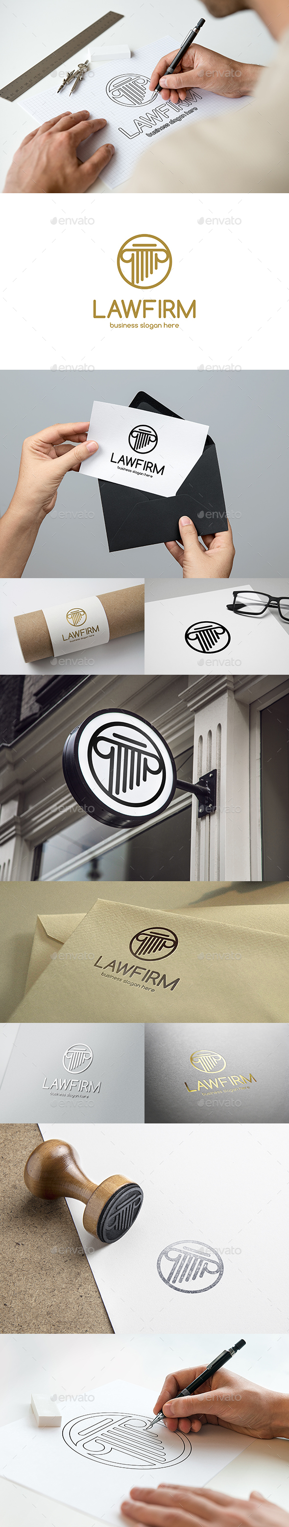 Law Firm Logo - Symbols Logo Templates