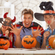 family celebrating Halloween - PhotoDune Item for Sale
