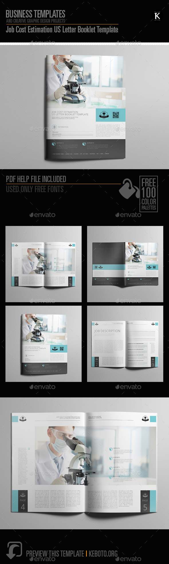 Job Cost Estimation US Letter Booklet Template - Miscellaneous Print Templates