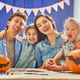 family preparing for Halloween. - PhotoDune Item for Sale