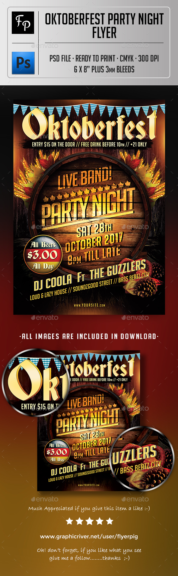 GraphicRiver Oktoberfest Party Night Flyer 20675617