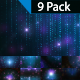 Blue Glowing Particles Background-9 Pack - VideoHive Item for Sale