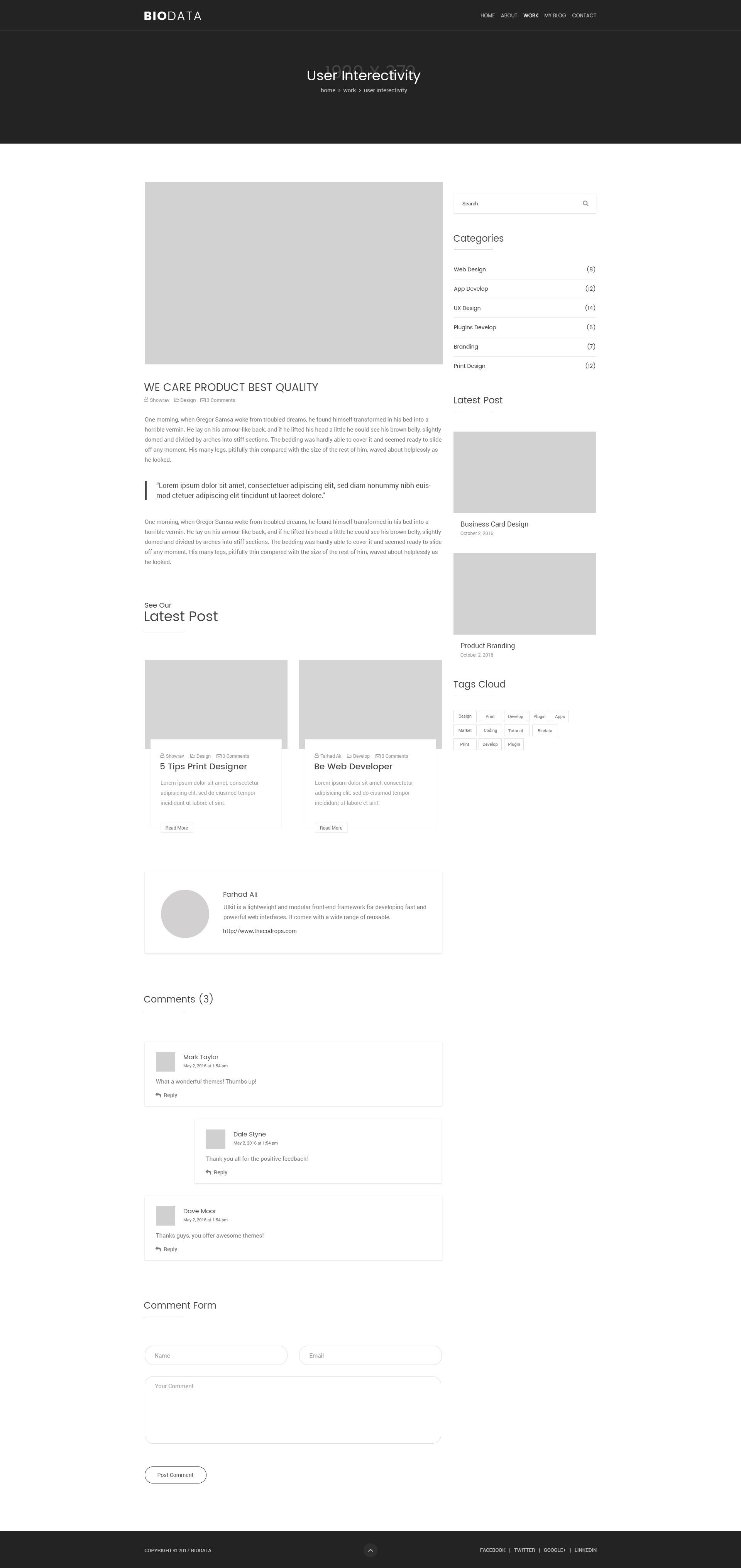 template of biodata