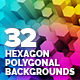 32 Hexagon Polygonal Backgrounds