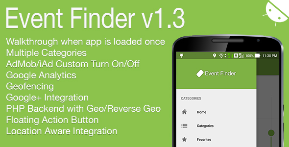 Event Finder Full Android Application v1.3 - CodeCanyon Item for Sale